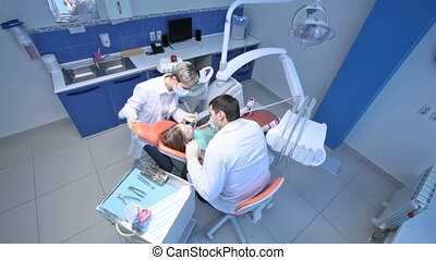 Working dentist