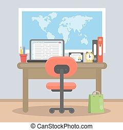 Working desk top.
