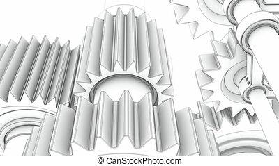 Working engine sketch