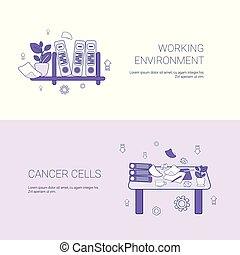 Working Environment And Workplace Concept Template Web Banner With Copy Space