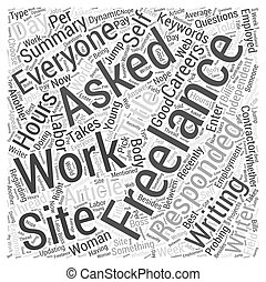 Working Freelance Not For Everyone Word Cloud Concept