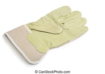 working glove isolated