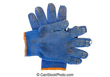 working gloves of blue color