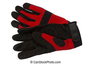 working gloves - Working gloves, isolated on background