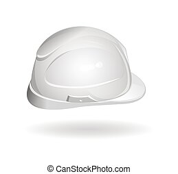 Working helmet side view. Hard hat icon