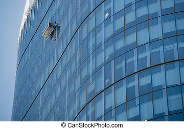 Working High Up - Window cleaner working high up on the ...