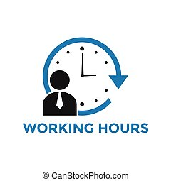 Working hours icon design template vector isolated ...