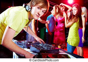 Working in night club