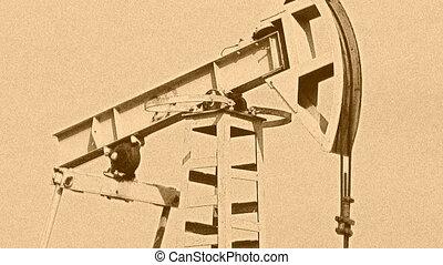 Oil Pump Jack - working in the desert Oil Pump Jack