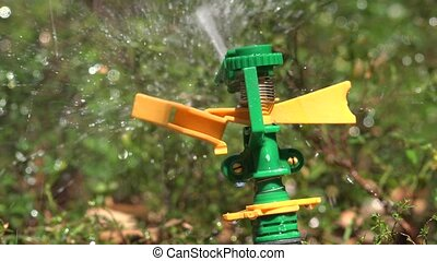 Working Lawn Sprinkler System