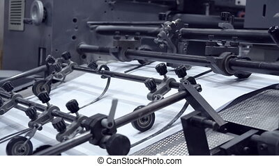 working machine on print factory