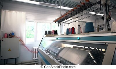 Working machine on textile industry