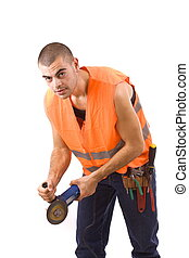 working man - the working man, isolated in white