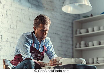 Working man - Young man in pottery