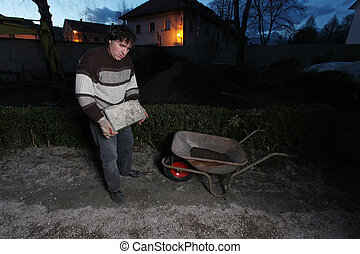 Working man's portrait