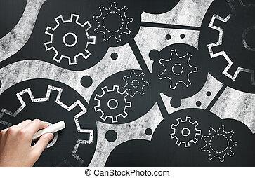 Working mechanism. Concept image