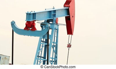 Working oil pump in a field