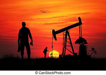 oil pumps - Working oil pumps