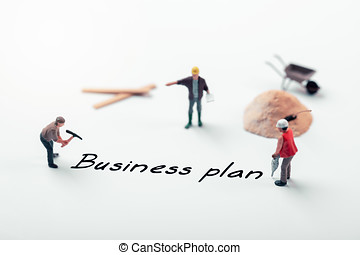working on new business plan concept