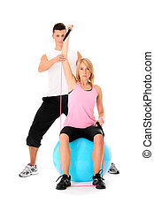Working out couple