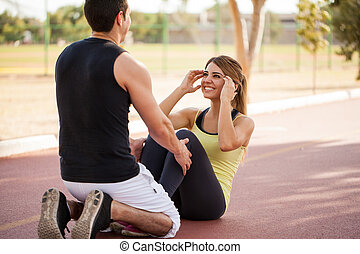Working out with my girlfriend