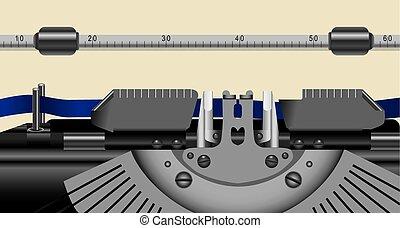 Working part of old typewriter
