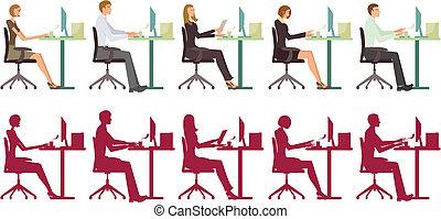 working people pattern