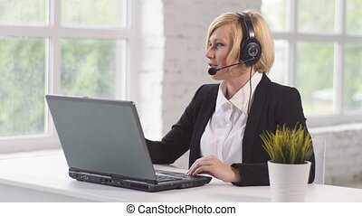 Working Place of Call Center Operator