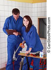 working shortening plumbing materials