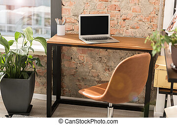 Working space of busy person