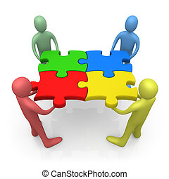 Working Together - Computer Generated Image - Working...