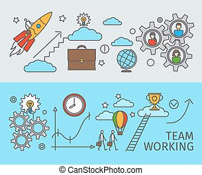 Working together in business concept