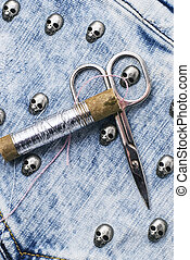 working tool of seamstress for sewing and needlework