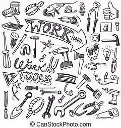 working tools doodles