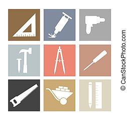 Working Tools Icons Set.