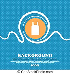Working vest icon sign. Blue and white abstract background flecked with space for text and your design. Vector