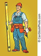 working with a drill, home repair
