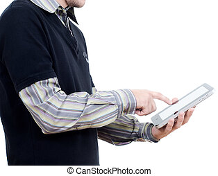 working with tablet pc