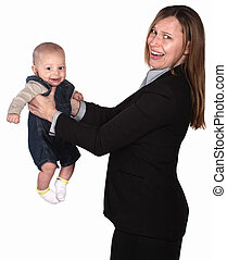 Working Woman with Baby