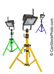 Brightly coloured work lights