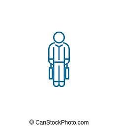 Workload linear icon concept. Workload line vector sign, symbol, illustration.
