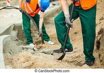 Workmen at work