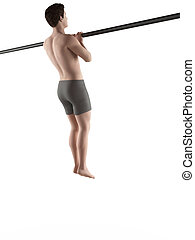 workout - close grip pull ups - exercise illustration -...
