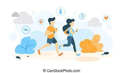 Workout concept illustration.
