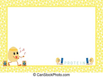 Workout Eggs Cartoon in Yellow Pict