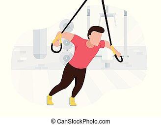 workout., entrenamiento, fuerza, ataque, trabajando,...