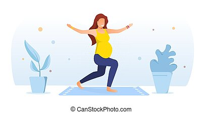 Workout for pregnant concept