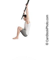 workout - hanging leg raises