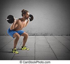 workout, hantel