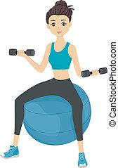 workout, m�dchen
